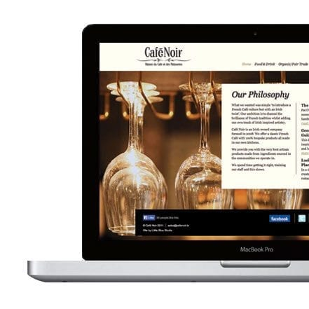 Web design cafe Noir