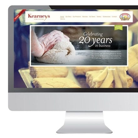 Web designer Limerick Kearneys home baking logo and website design