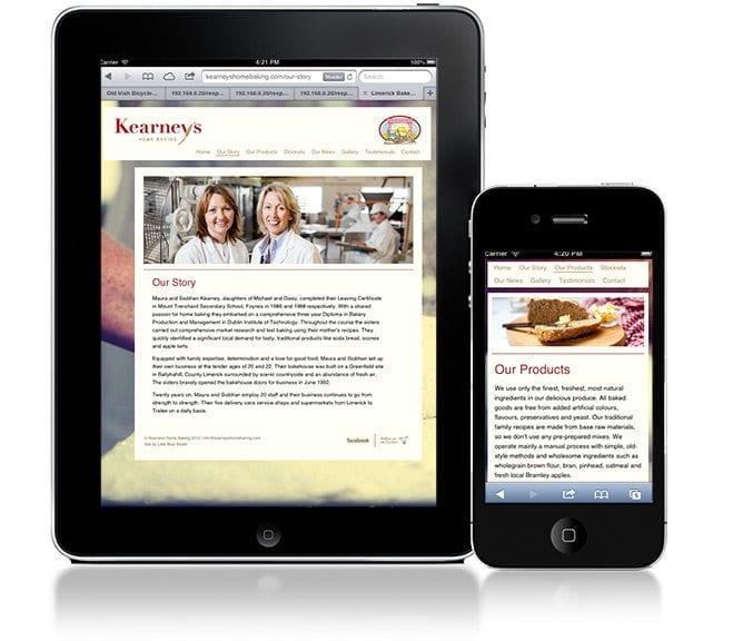 Website design project keaneys devices