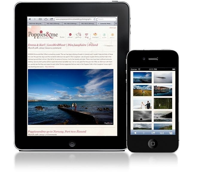 Website design project poppies devices