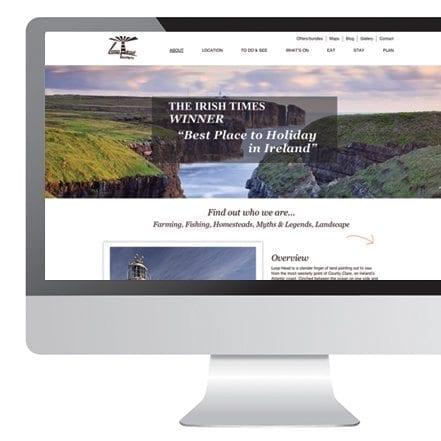 Web designer Limerick loop head website
