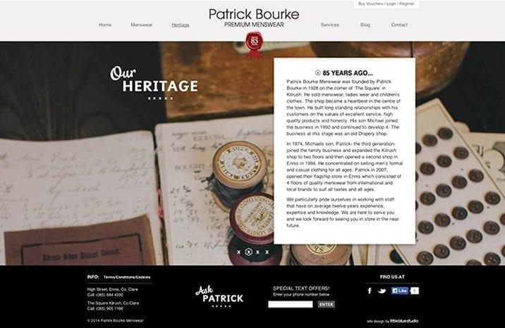 Web site design heritage
