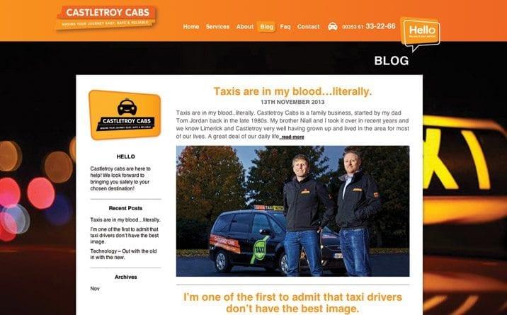 Web site designer in Limerick CC Screen