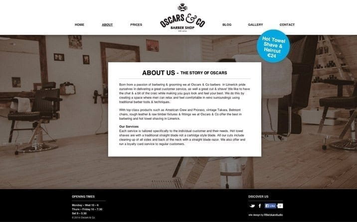 Web site designer in Limerick OC About