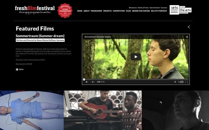 Fresh Film festival from Little Blue Studio