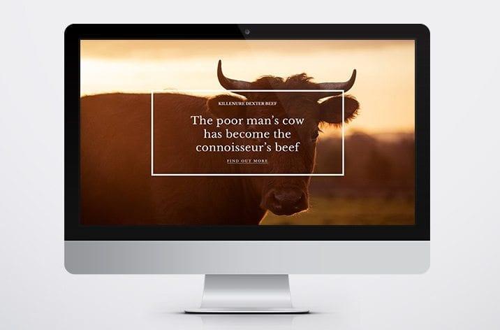 Little Blue Studio website design Dexter beef 4