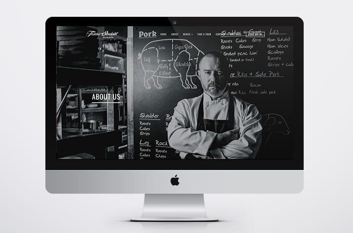 texas steakout web design