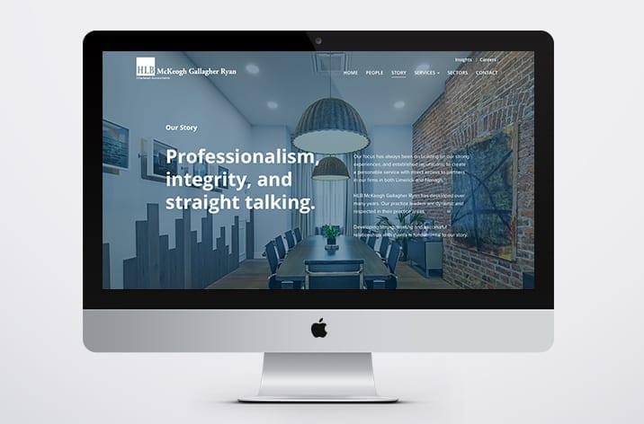 Web Design for HLB McKeogh Gallagher Ryan Limerick Office