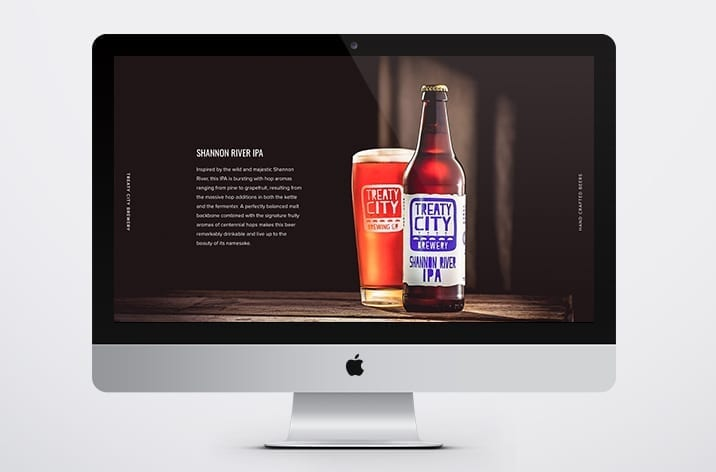 Responsive Web Design for Treaty City Brewery