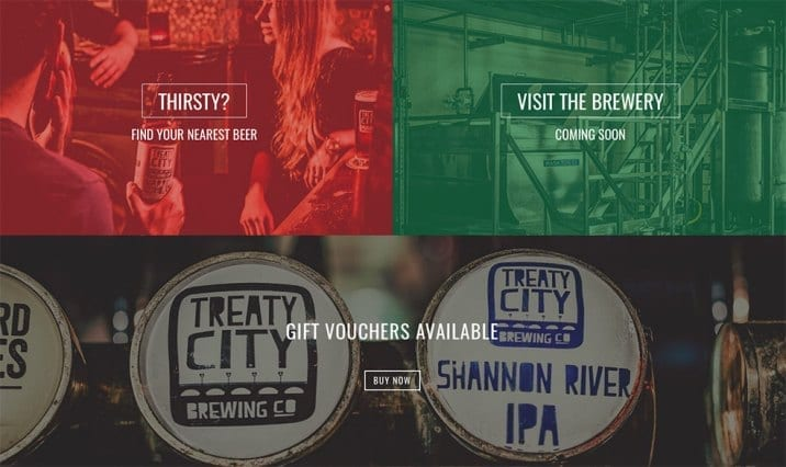 Limerick Web Design for Treaty City Brewery
