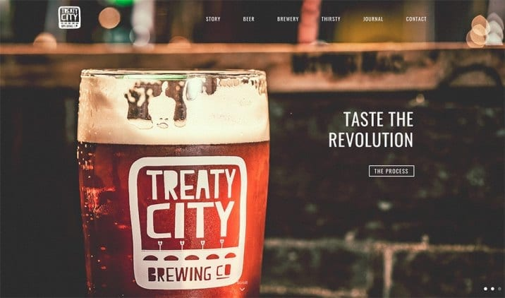 Website Design for Treaty City Brewery