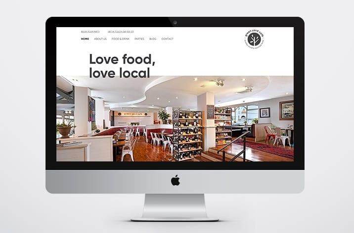 Green Yard Cafe Website Designed by Little Blue Studio