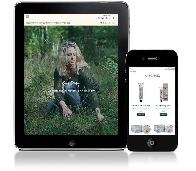 Dublin Herbalists Responsive Web Design