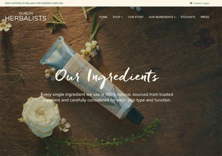 Website Design for Dublin Herbalists
