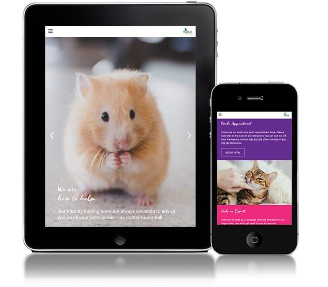Responsive Web Design for Rockhall Vets