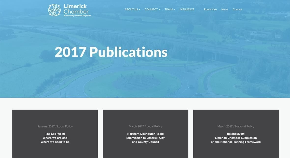 Limerick Chamber's 2018 publications