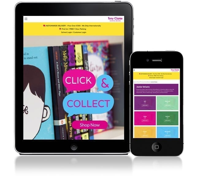Web Design for Limerick's Tony Clarkes