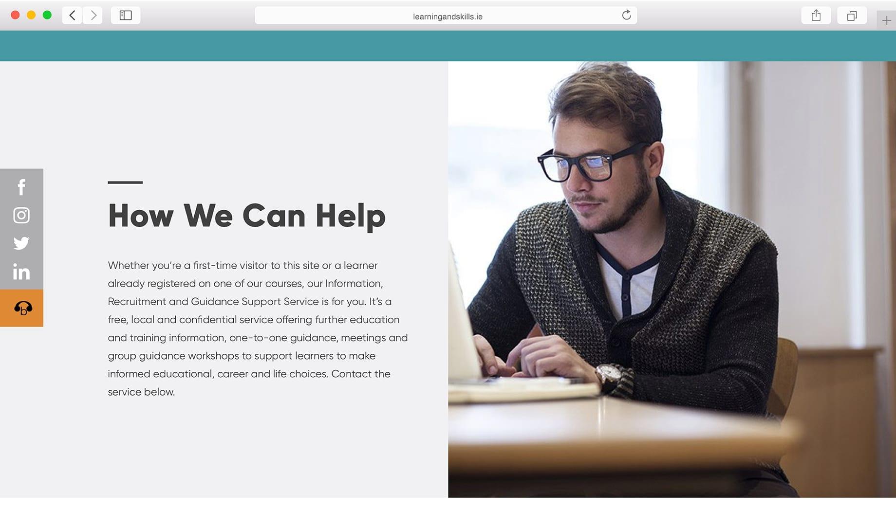 Webdesign for LCTEB