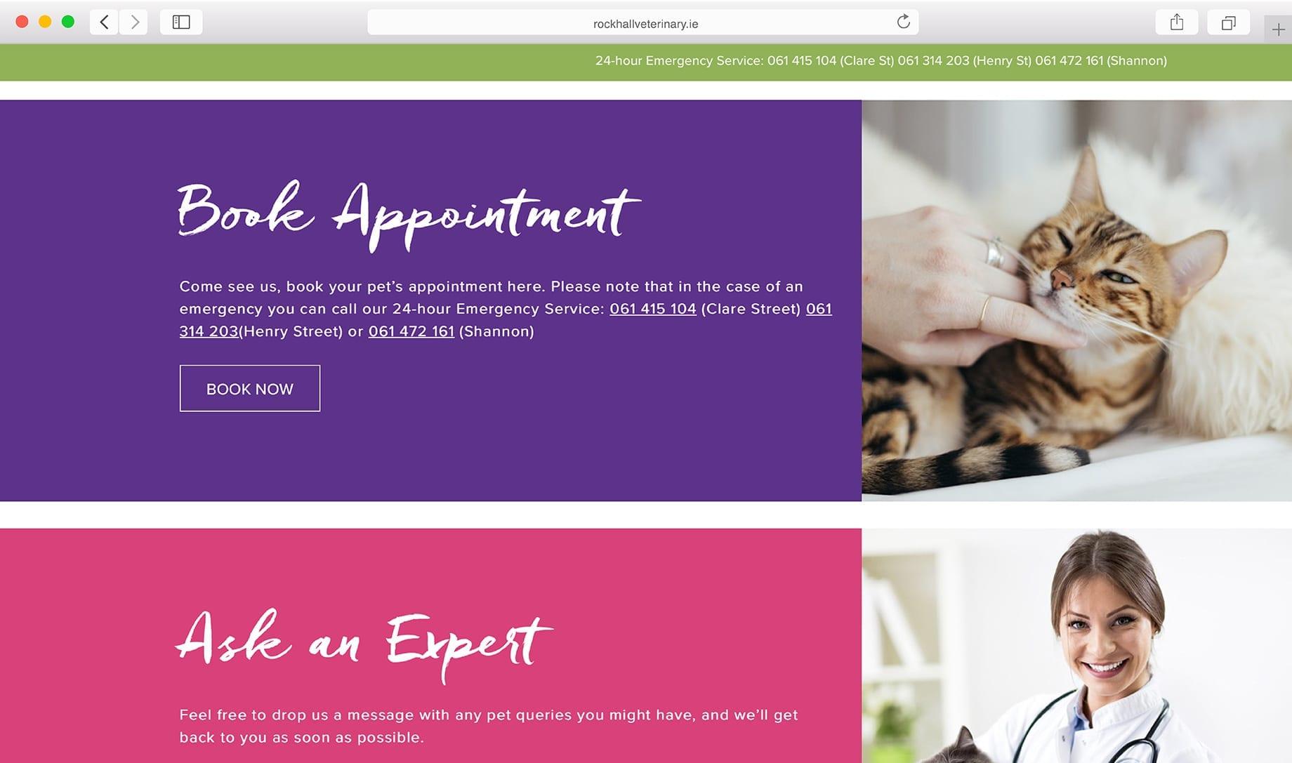 Rockhall Vets Web Design Company