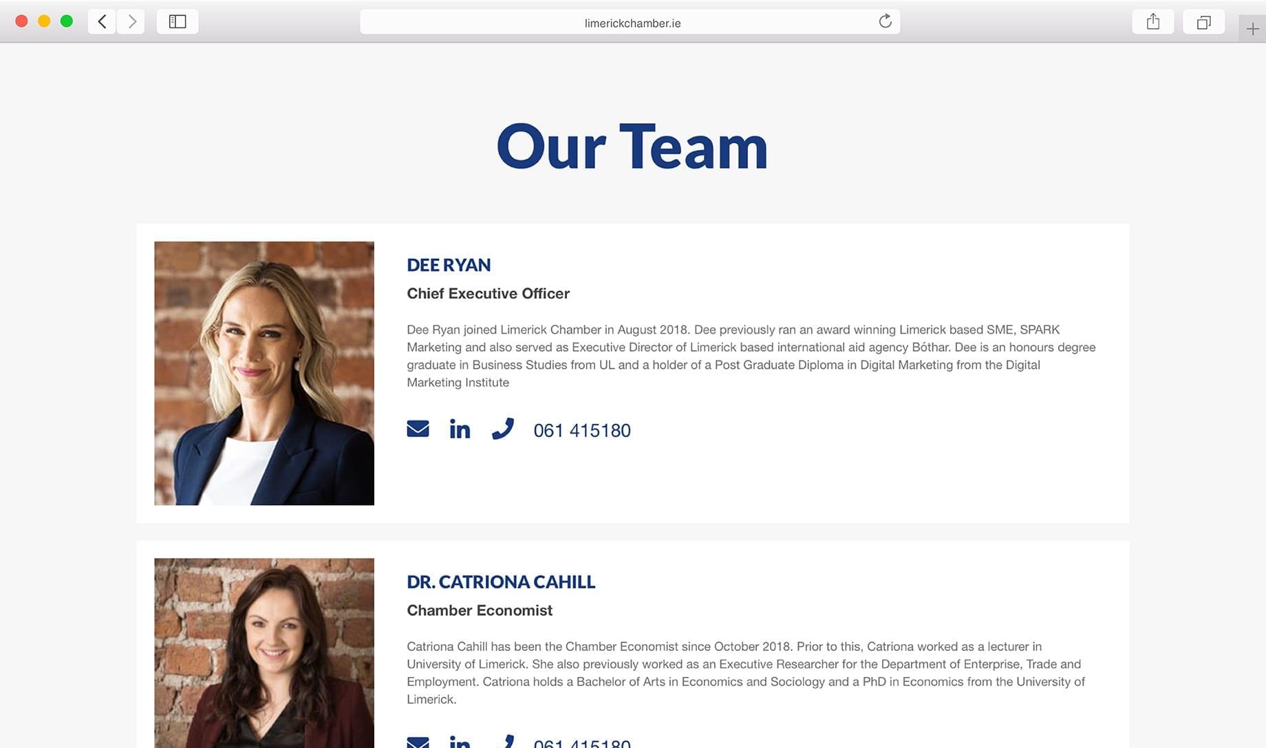 Limerick Chamber Staff Profiles