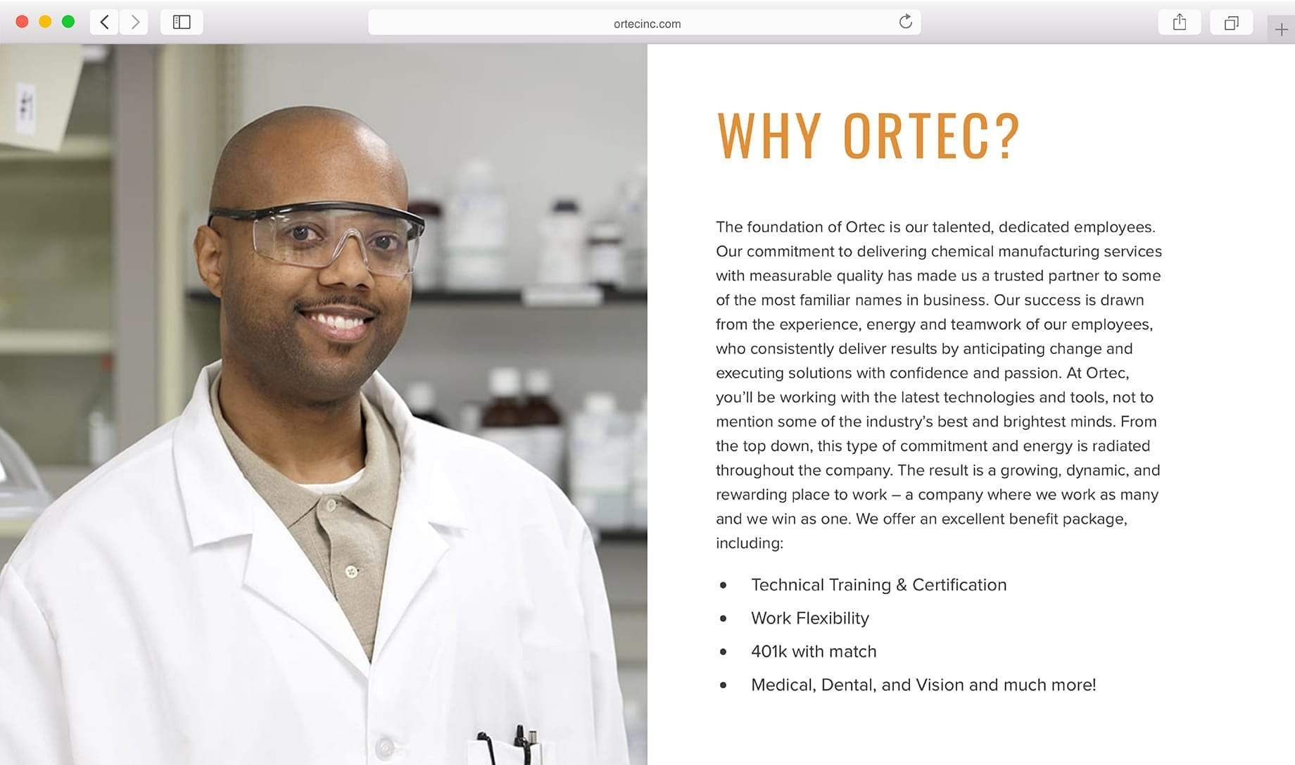 Ortec Plant Frontage