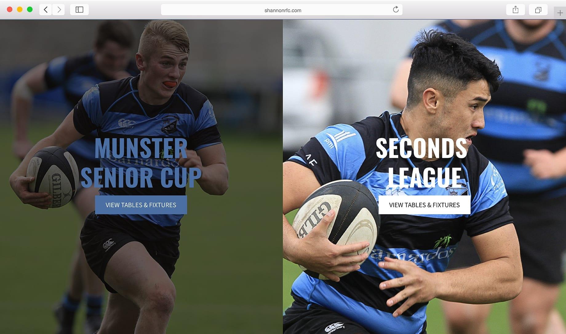 Shannon Website Design Screenshot