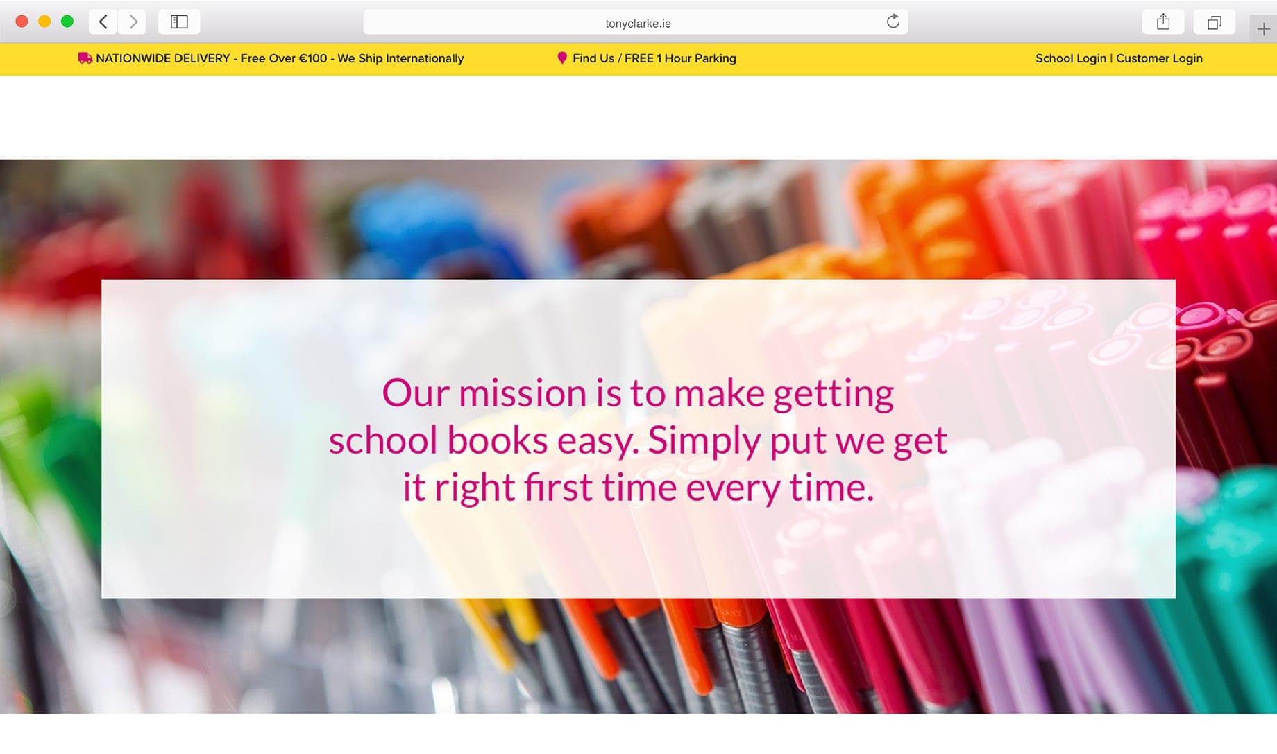 Tony Clarkes Website Design Limerick